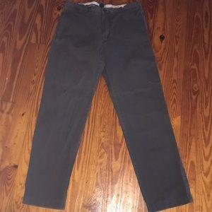 Men's 36x34 J. Crew broken in, classic slim pants